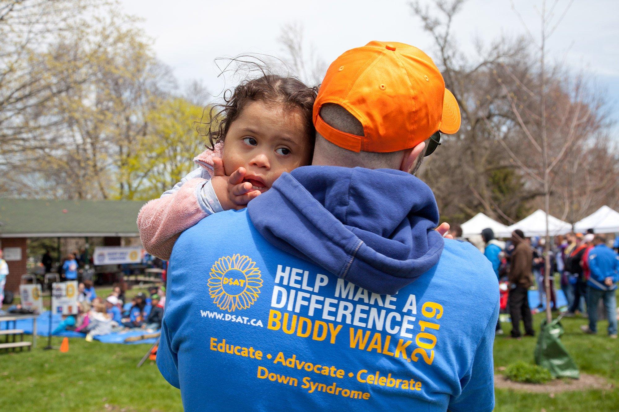 volunteer with buddy walk