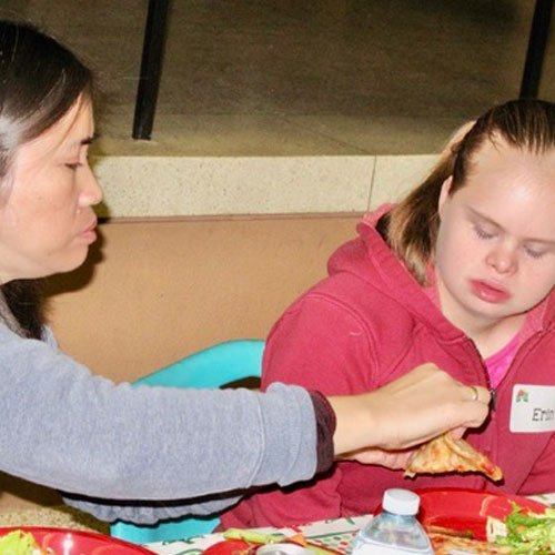 suport workers for people with Down Syndrome