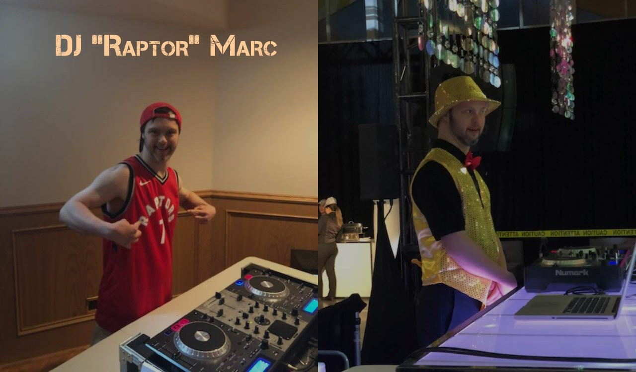 "DJ ""Raptor"" Marc has the party going"